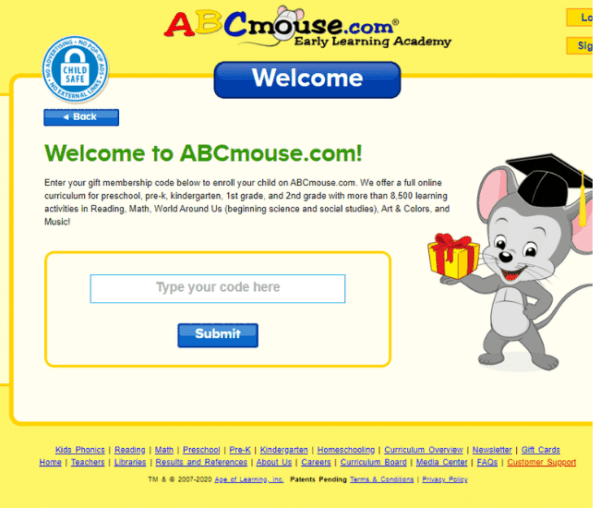 abcmouse free codes