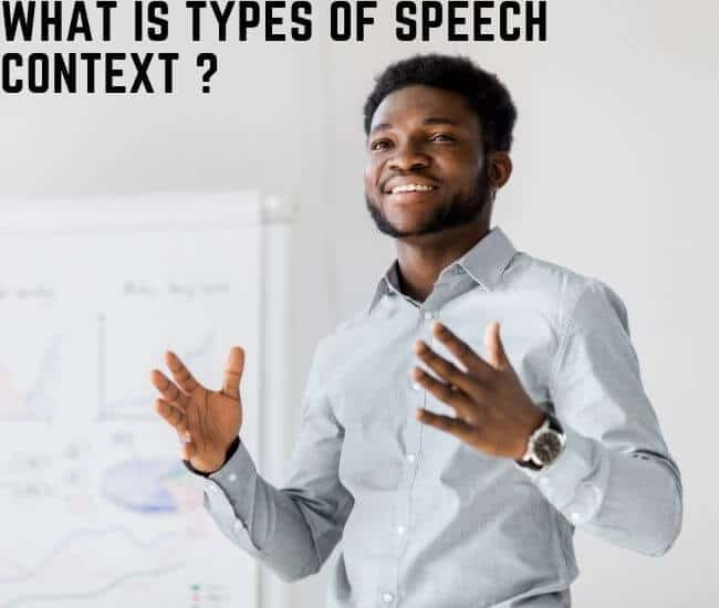 What is types of speech context