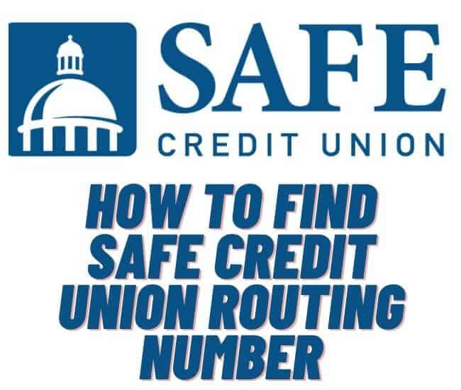 Safe Credit Union Routing Number